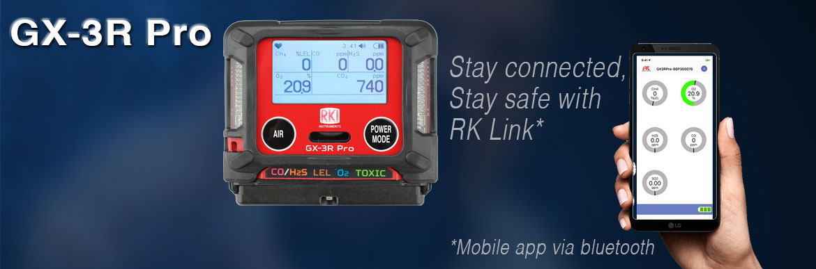 GX-3R Pro - Stay connected, Stay safe with RK Link* *Mobile app via bluetooth
