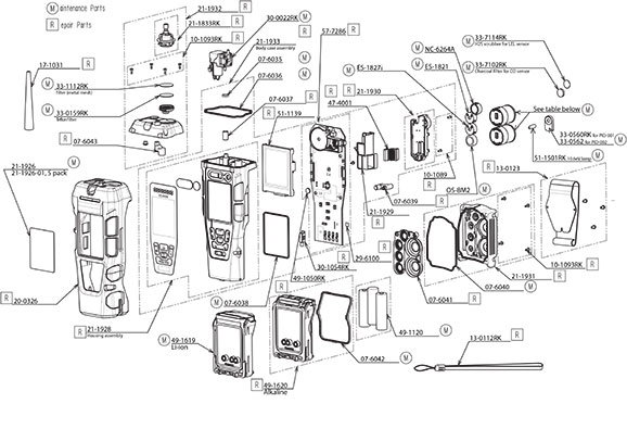 GX-2012 parts list