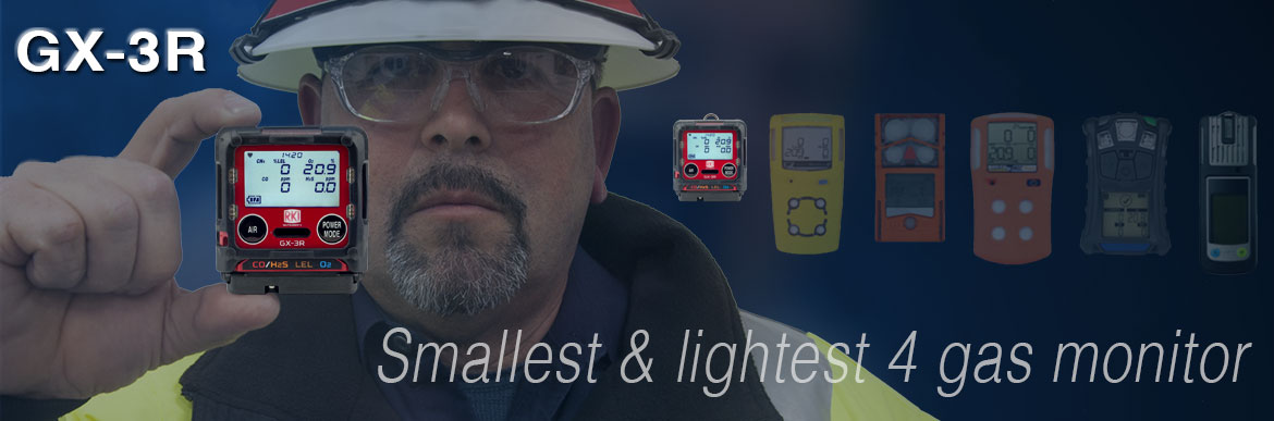 GX-3R Smallest & Lightest 4 gas monitor