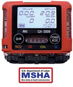 2018 MSHA GX-2009 available with NO2 Sensor