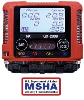 GX-2009 MSHA gas monitor