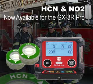 HCN and NO2 sensors for GX-3R Pro