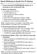 01-Series Quick Reference Card