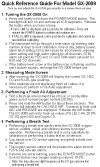 GX-2009 Quick Reference Card