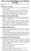 GX-2001 Spanish reference card