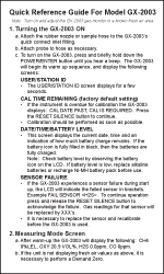 GX-2003 Quick Reference Card