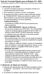 GX-2003 Spanish Quick Reference Card