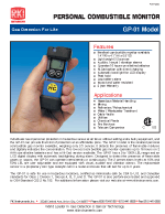 LEL gas monitor GP-01 Datasheet