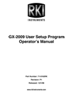 GX-2009 User Setup Manual